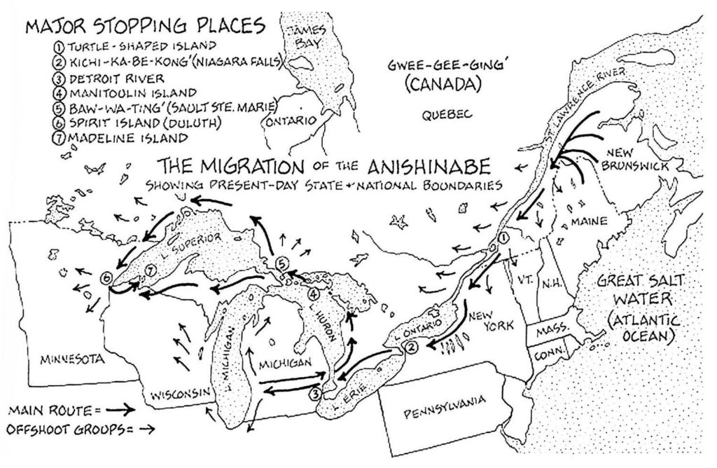 0796 – Westward Migration of Anishinabe   Formation of The Council of Three Fires