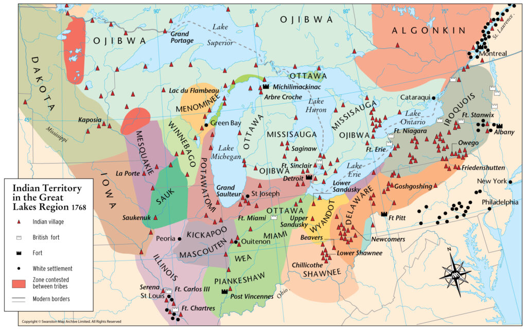 1763 – Detroit Potawatomi Leave Detroit and Migrate South and West